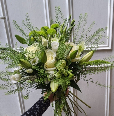 Florist Choice in Whites & Greens