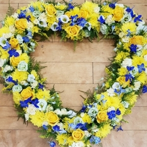 Bright and Vivid Heart Wreath