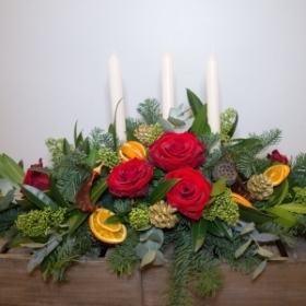 3 Candle Table Arrangement